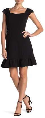 Nanette Lepore NANETTE Ruffle Hem Cap Sleeve Dress