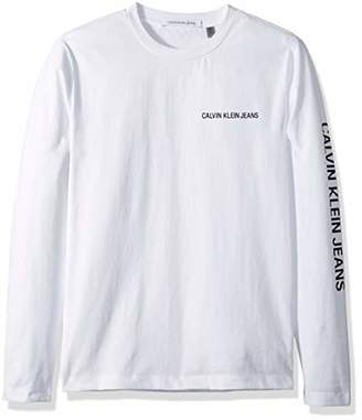 Calvin Klein Jeans Men's Long Sleeve Logo T-Shirt