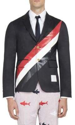 Thom Browne Striped Unconstructed Jacket