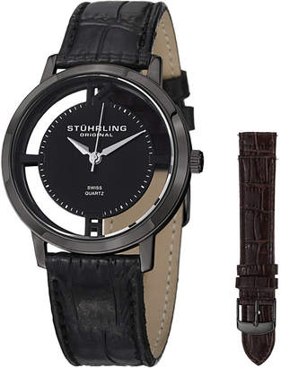 Stuhrling Original Mens Black Strap Watch-Sp14696