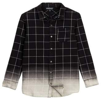 Elwood Bleach Dip Long Sleeve Button Up Shirt (Little Boys & Big Boys)