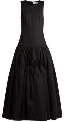 Molly Goddard - Lena Drop Waist Cotton Poplin Gown - Womens - Black