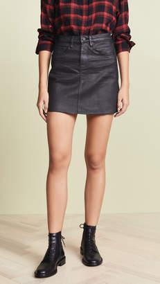 Blank Coated Denim Miniskirt