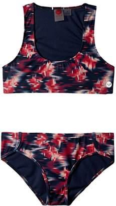 Roxy Kids Tropi Sporty Athletic Set Girl's Swimwear Sets