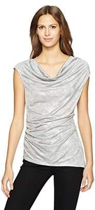 Calvin Klein Women's Sleeveless Metallic Snake Foil