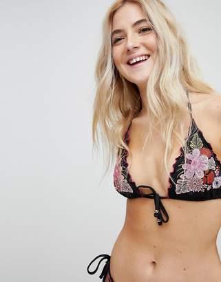 Matthew Williamson MW By Lattice Edge Embroidered Bikini Top