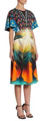 Mary Katrantzou Osmond Feather-Print Dress