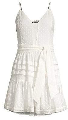 Paige Women's Nahla Ruffle Tie-Waist Dress