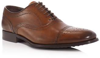 To Boot David Leather Medallion Cap Toe Oxfords