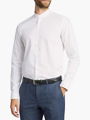 HUGO BOSS HUGO by Klaudio Stand Collar Slim Fit Shirt, Open White