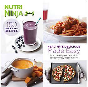 """Nobrand NO BRAND """"Nutri Ninja 2-in-1 Healthy & Delicious RecipesMade Easy"""""""