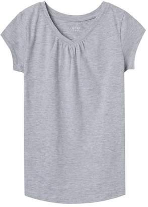 French Toast Big Girls Short Sleeve V-neck Tee