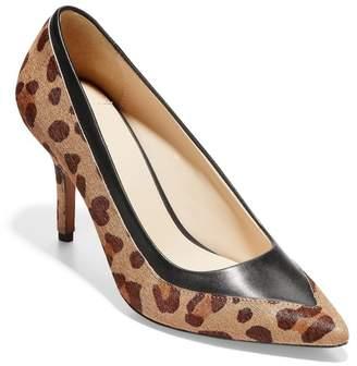 Cole Haan Valerie Leather & Leopard Calf Hair Stiletto Heel