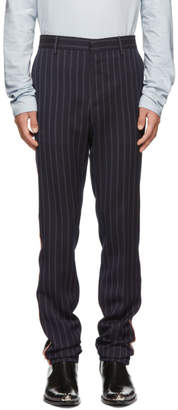 Calvin Klein Navy Uniform Stripe Trousers