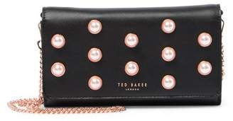 Ted Baker Steff Faux Pearl Stud Leather Matinee Wallet-on-a-Chain