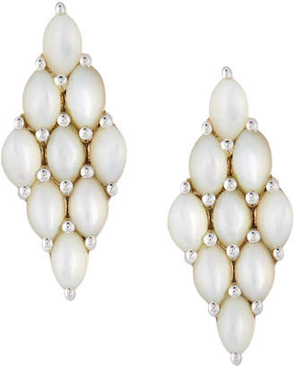 Elizabeth Showers Honeycomb Post Earrings, Mother-of-Pearl