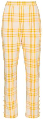 Rosie Assoulin Oboe Check Trousers