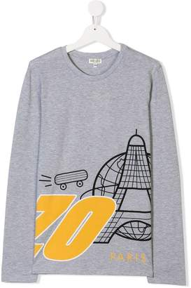 Kenzo Paris print long-sleeve T-shirt