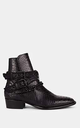 Amiri Men's Python-Stamped Jodhpur Boots - Black