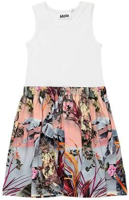 Molo Palm Spring Rib Jersey & Interlock Dress