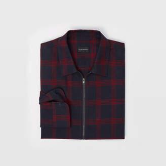 Club Monaco Plaid Zip Shirt