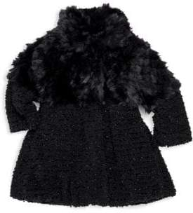 Widgeon Little Girl's& Girl's American Widgeon Faux Fur Coat