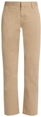 Stretch-cotton gabardine chino trousers