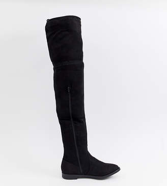 24b4db8bc833d Truffle Collection Flat Over Knee Boot