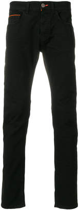 Frankie Morello contrast trim trousers