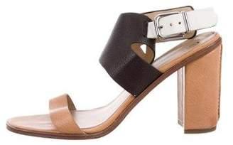 Via Spiga Leather Ankle Strap Sandals