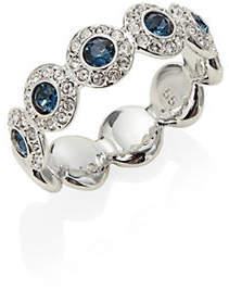 Swarovski Blue Clear Crystal Band Ring