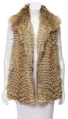 Vince Open Front Fur Vest
