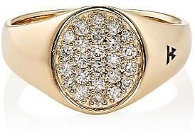 Tom Wood Women's Mini Signet Oval Ring-Gold