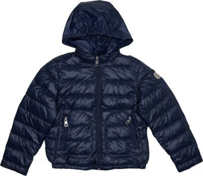 Moncler Shiny Lightweight Down Jacket With Detachable Hood