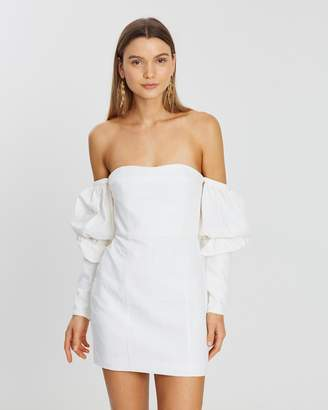 Asilio Off-The-Shoulder Mini Volume Sleeve Dress