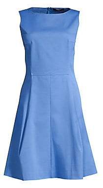 Derek Lam Women's Sleeveless Poplin A-Line Dress