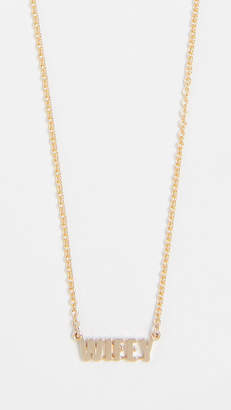 Established 14k Gold Wifey Word Necklace