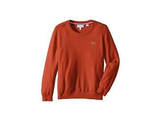 Lacoste Kids Long Sleeve Crewneck Sweater (Toddler/Little Kids/Big Kids)