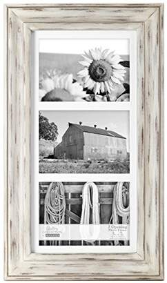 Malden International Designs Whitman Matted 3 Opening Collage Wood Picture Frame