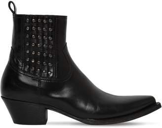 Saint Laurent Tex Houston Studded Leather Boots