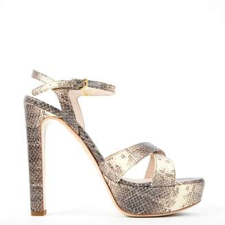 Miu Miu Python Print Leather Sandals QGrcCTG4i2