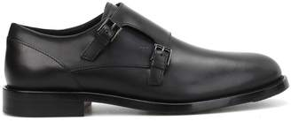 Tod's Tods Semi-glossy Leather Monk Straps