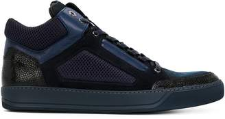 Lanvin textured hi-top sneakers