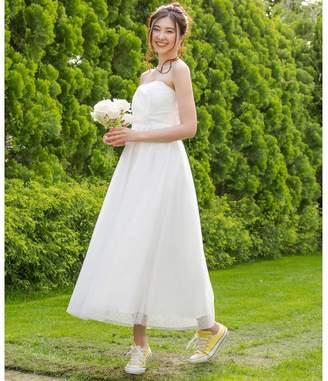form forma 【結婚式・ウェディングドレス】kaene/ドットチュールレースフレアロングウェディングドレス