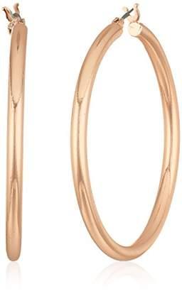 T Tahari Womens Essentials Medium Tube Hoop Earrings