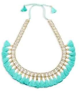Jardin Tassel-Trimmed Sliding Lock Necklace