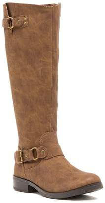 Madden-Girl Fayettee Buckle Riding Boot
