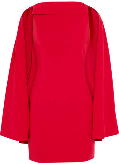 Alice + Olivia Neely Cape-effect Crepe Dress