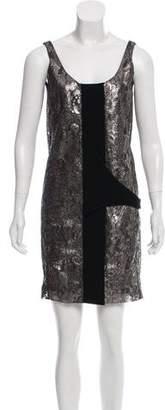 Balenciaga Metallic Mini Dress
