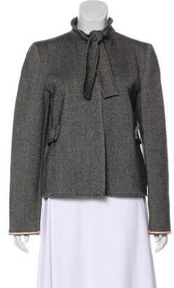 Miu Miu Wool-Blend Short Coat
